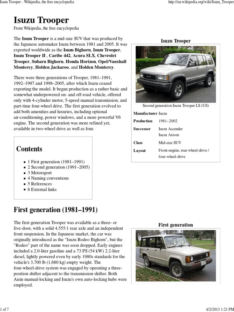 medium resolution of 2 jackaroo isuzu trooper wikipedia pdf automobile layouts land vehicles