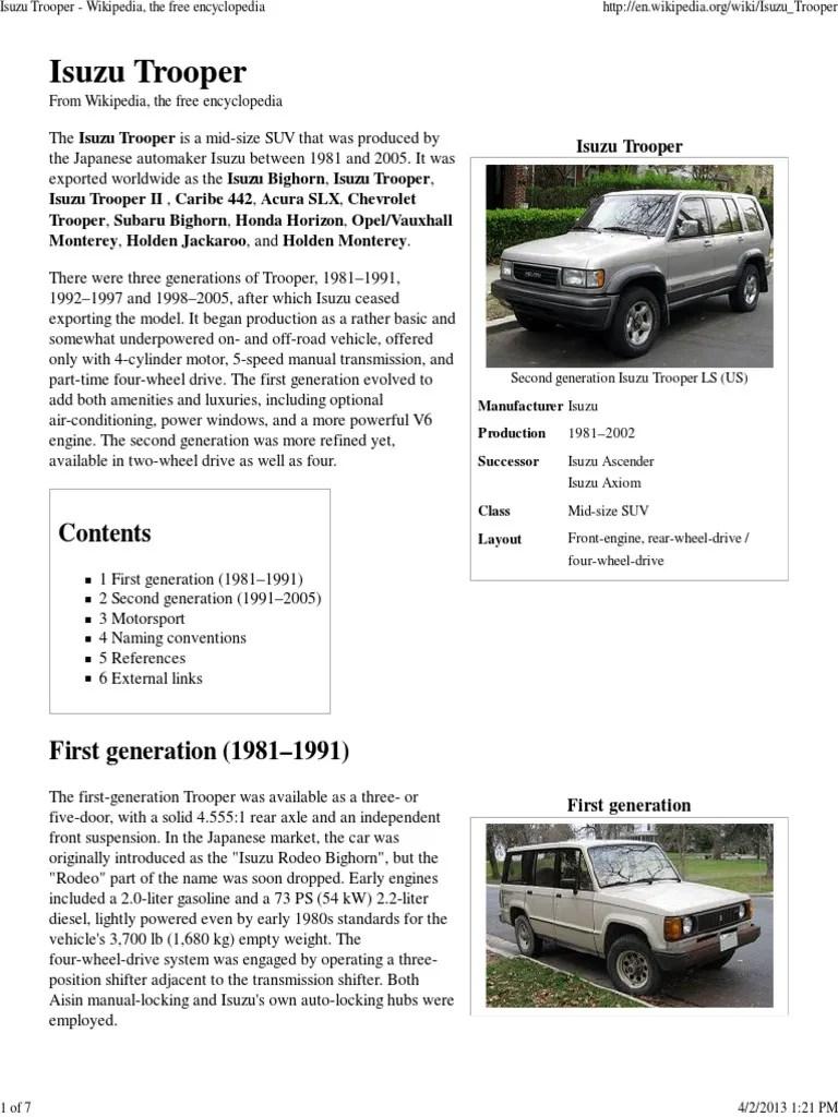 small resolution of 2 jackaroo isuzu trooper wikipedia pdf automobile layouts land vehicles