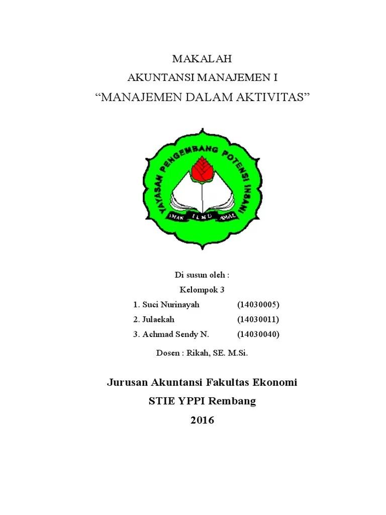 Makalah Akuntansi Manajemen : makalah, akuntansi, manajemen, Makalah, Akuntansi, Manajemen