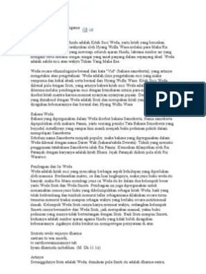 Pembagian Kitab Weda : pembagian, kitab