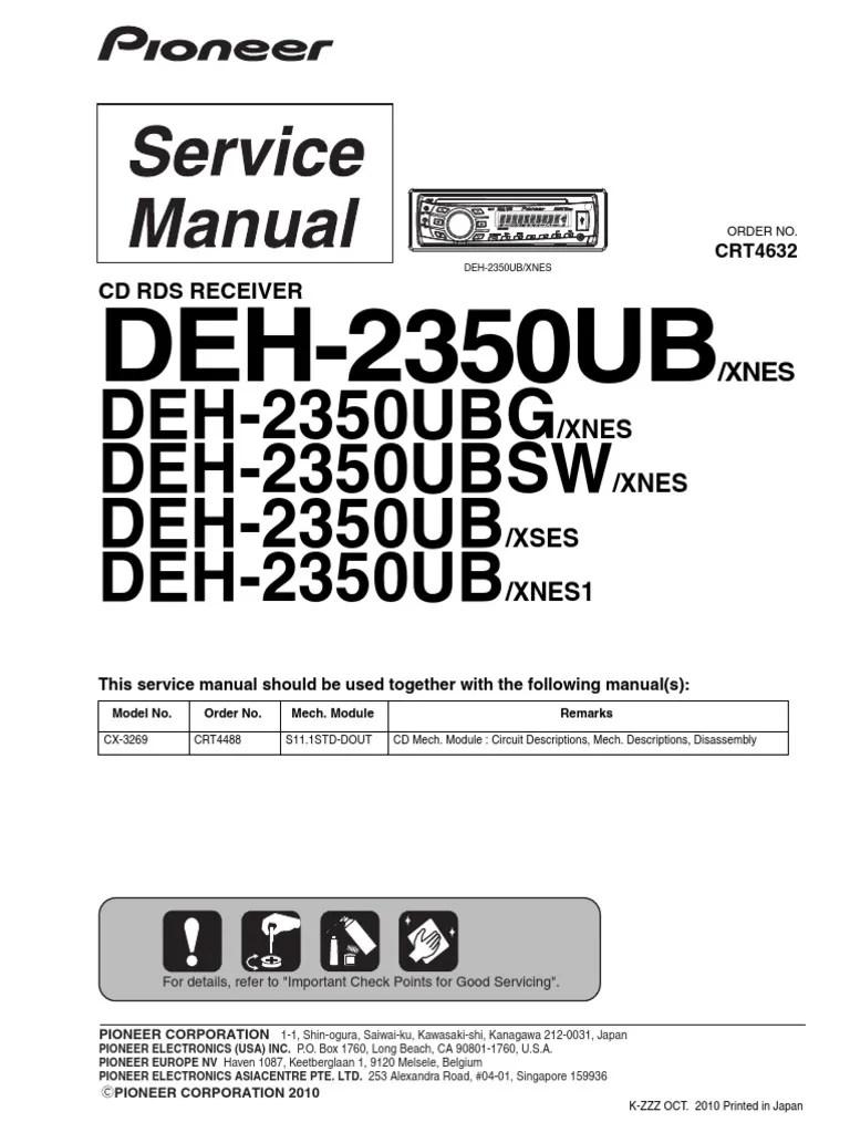 medium resolution of pioneer car stereo wiring harnes deh405
