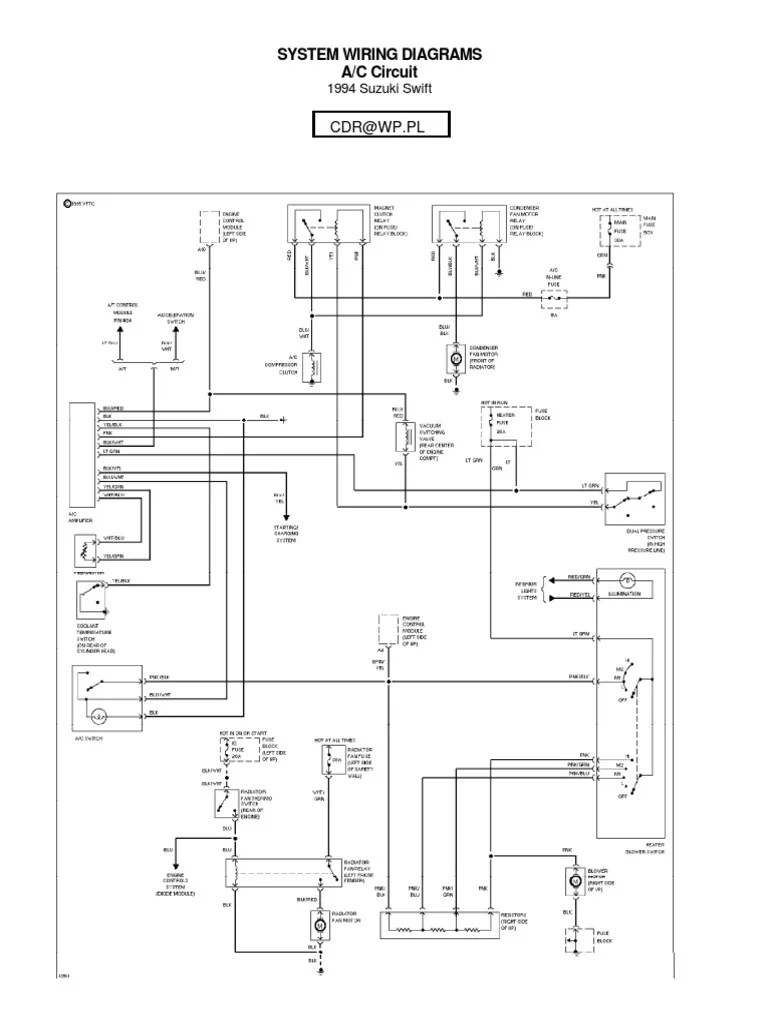 hight resolution of suzuki swift wiring diagram 1994 wiring diagram reviewsuzuki swift wiring diagrams 1994 cars of the united