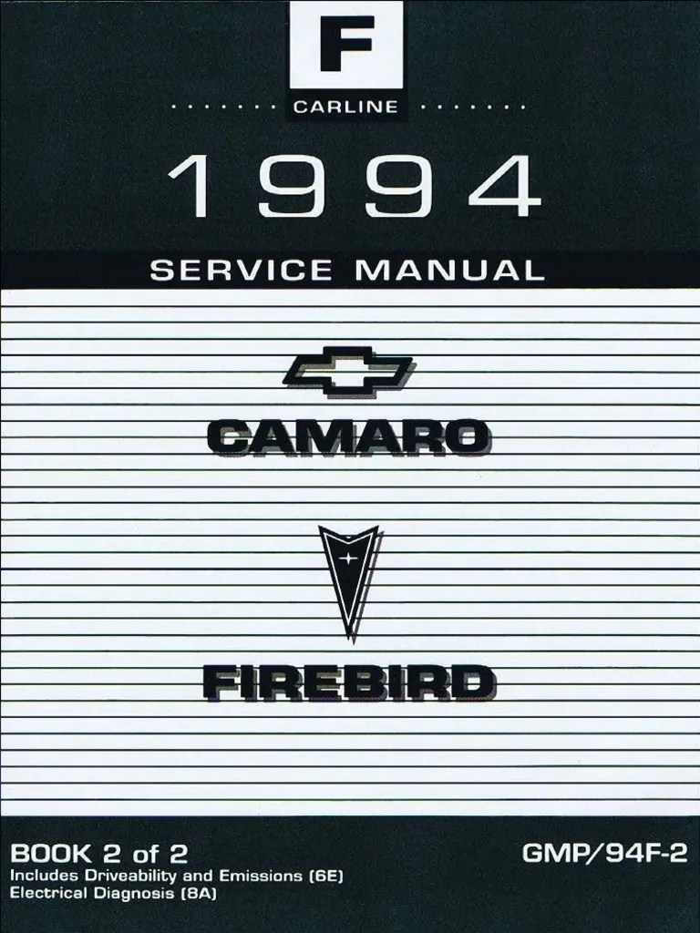 hight resolution of 1994 chevrolet camaro pontiac firebird service manual volume 2 fuel injection steering