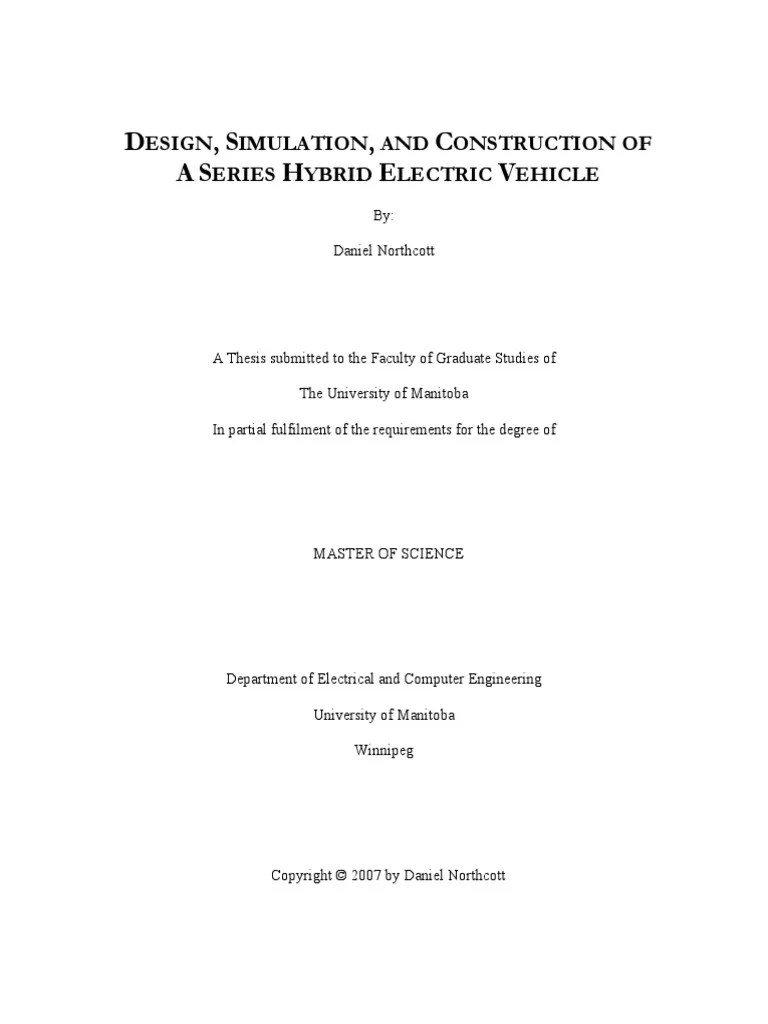 small resolution of design simulation and construction of a series hybrid electric vehicle pdf hybrid electric vehicle transmission mechanics