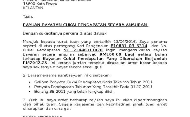 Contoh Surat Rayuan Pindaan Lhdn Selangor C Cute766