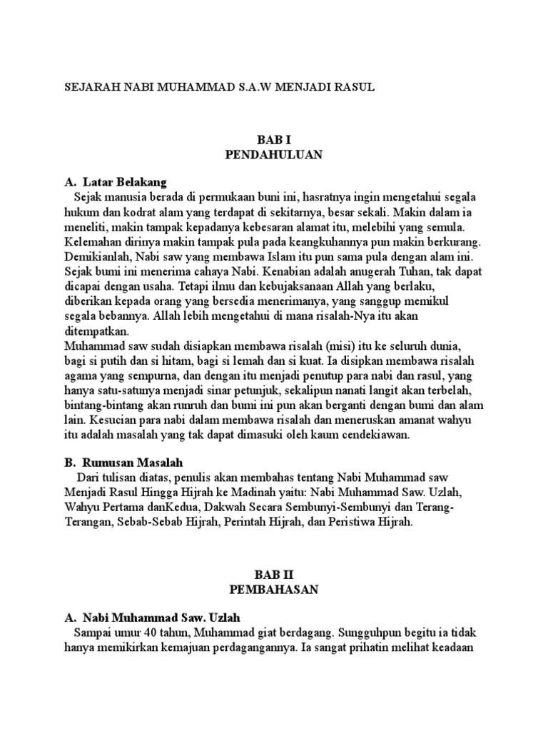 Kapan Nabi Muhammad Menjadi Rasul : kapan, muhammad, menjadi, rasul, Sejarah, Muhammad