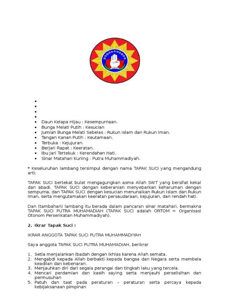 Arti Lambang Tapak Suci Muhammadiyah : lambang, tapak, muhammadiyah, Lambang, Tapak