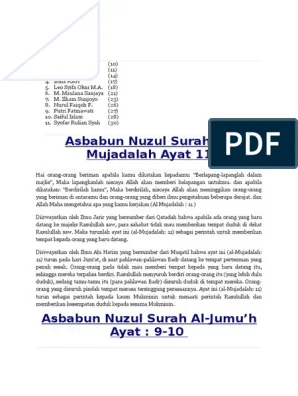 Asbabun Nuzul Al Mujadalah Ayat 11 : asbabun, nuzul, mujadalah, Asbabun, Nuzul, Surah