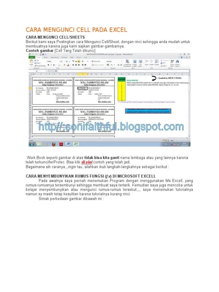 Cara Mengunci Sel Di Excel : mengunci, excel, Mengunci, Excel