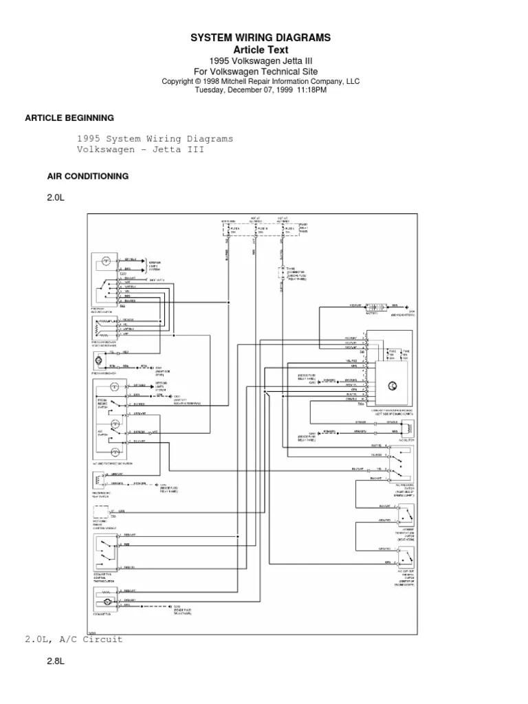 small resolution of 95 jetta radio wire diagram