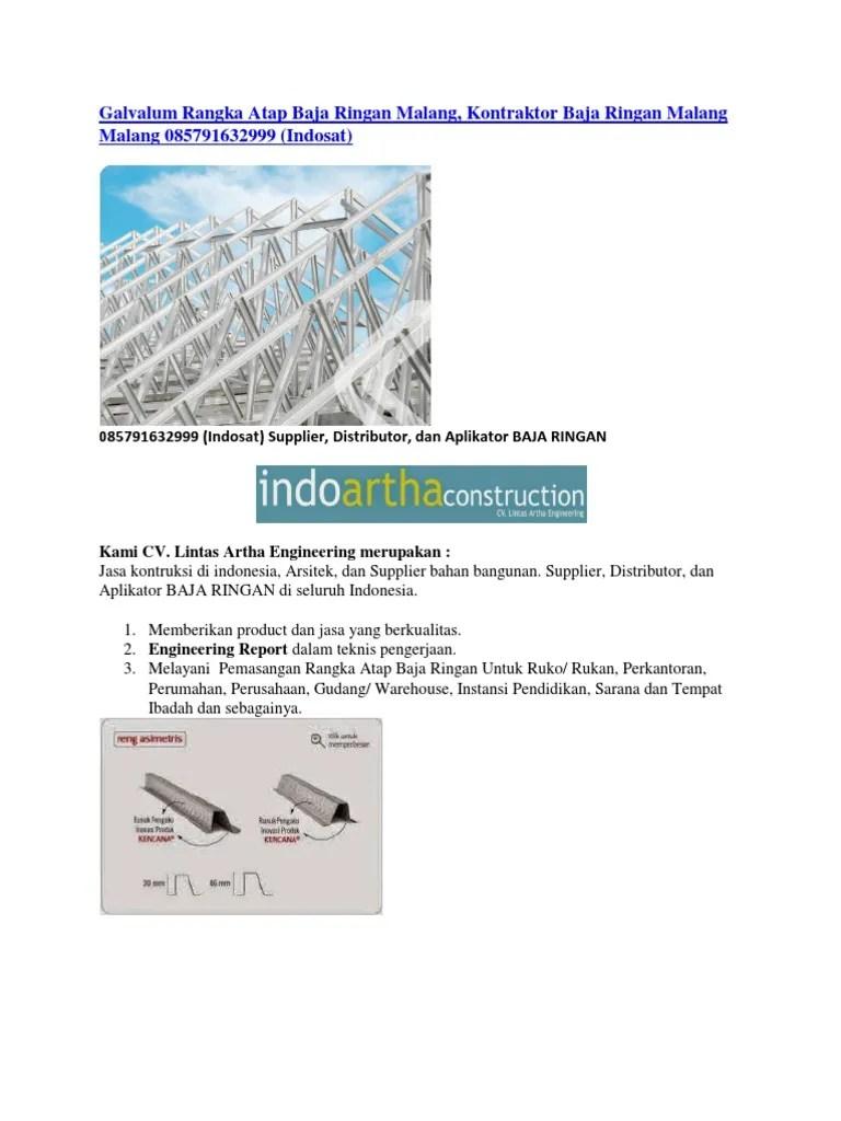 harga baja ringan kencana di semarang galvalum rangka atap malang kontraktor