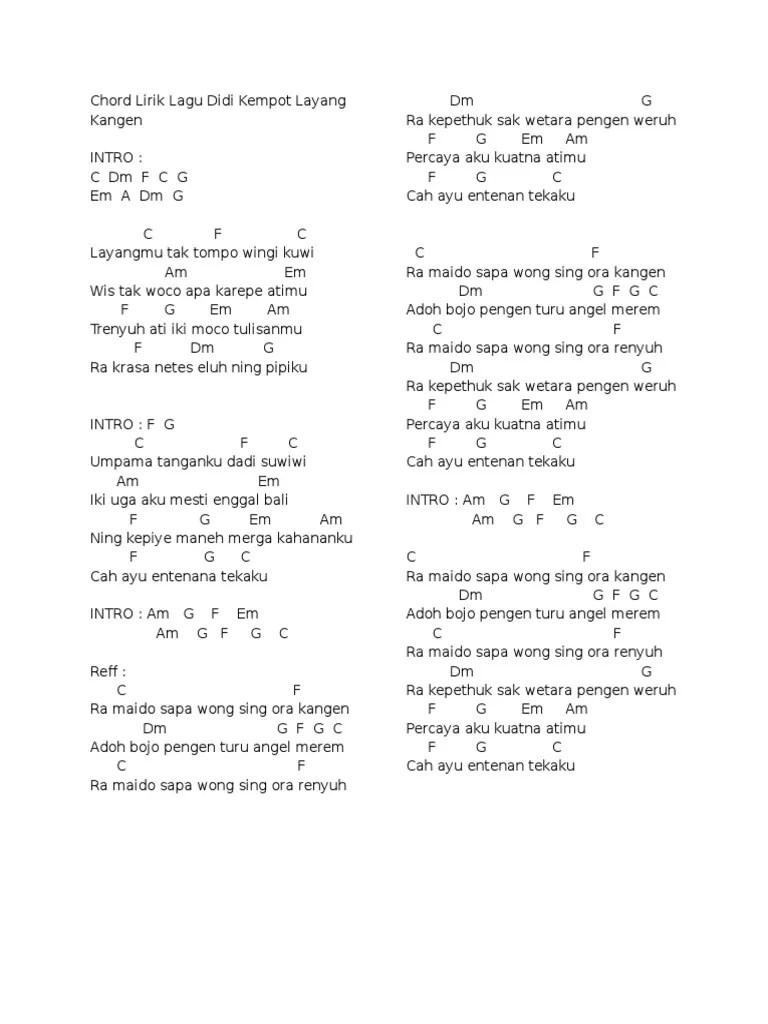 Download Lagu Didi Kempot Layang Kangen : download, kempot, layang, kangen, Chord, Lirik, Kempot, Layang, Kangen