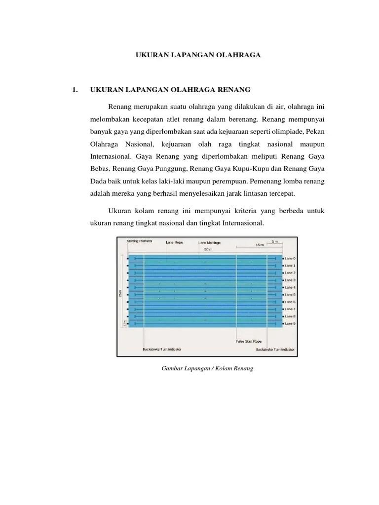 Ukuran Kolam Renang Standar Internasional : ukuran, kolam, renang, standar, internasional, Gambar, Kolam, Renang, Beserta, Ukuran