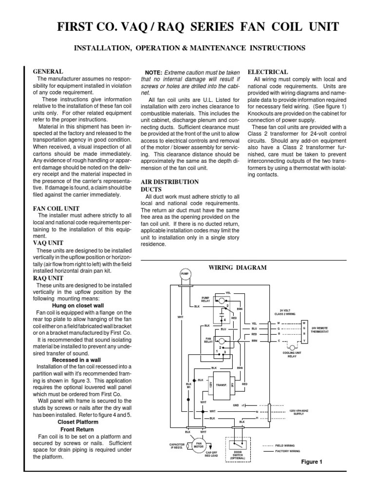 medium resolution of fan coil unit wiring diagram