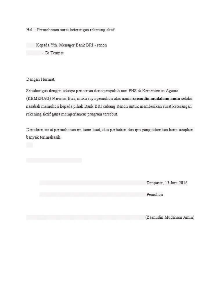 7 Contoh Surat Kuasa Bank, Semua Bank (Terbaru 2020) - Bergaya
