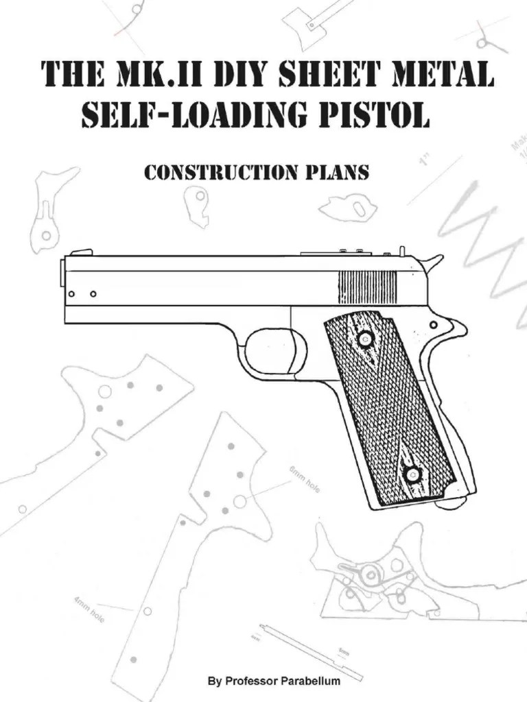 The MK.2 DIY Sheet Metal Self-loading Pistol