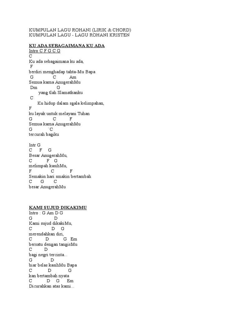 Lirik Lagu Ku Ada Sebagaimana Ku Ada : lirik, sebagaimana, Kumpulan, Rohani