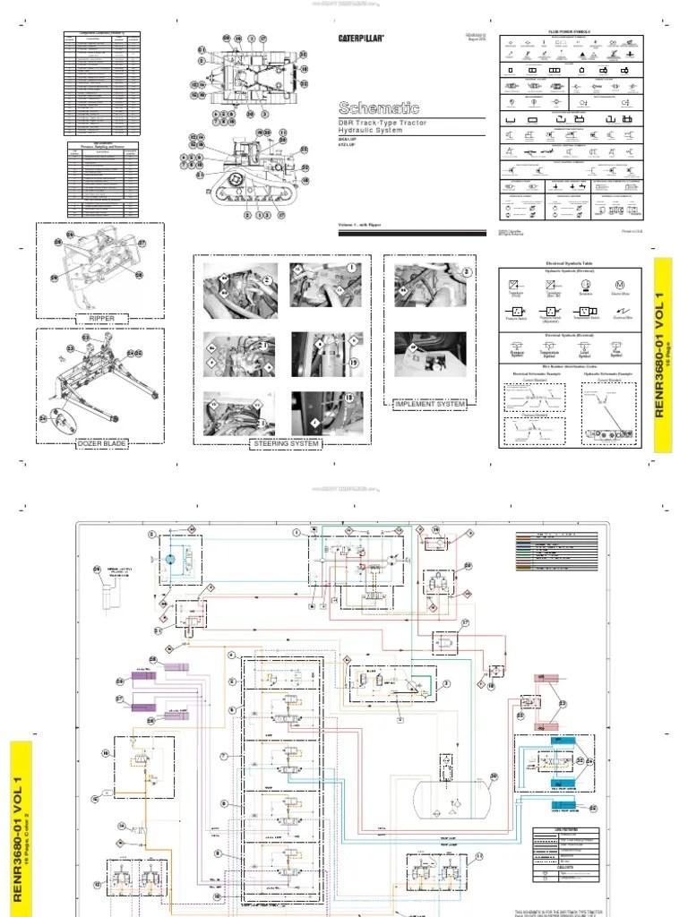 medium resolution of material schematic hydraulic system track type tractors d8r dozer caterpillar pump valve
