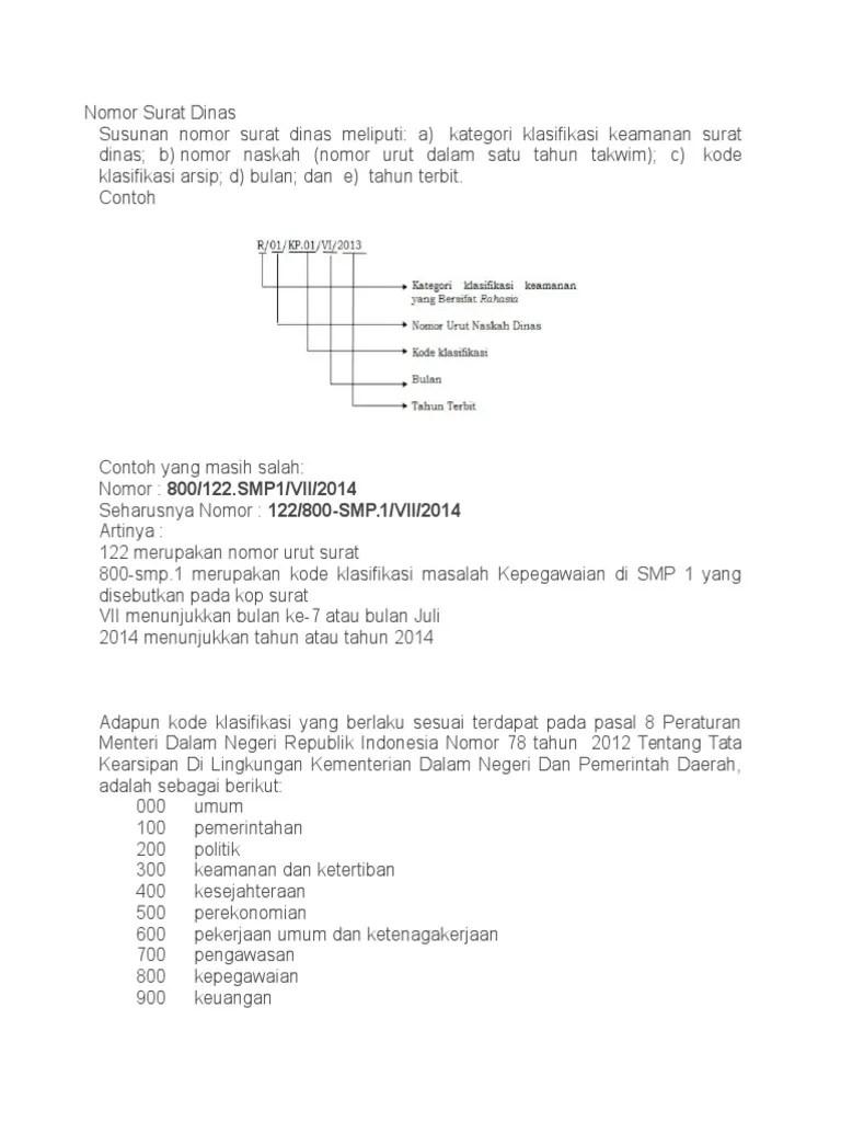 Nomor Surat Resmi : nomor, surat, resmi, Nomor, Surat, Dinas.docx