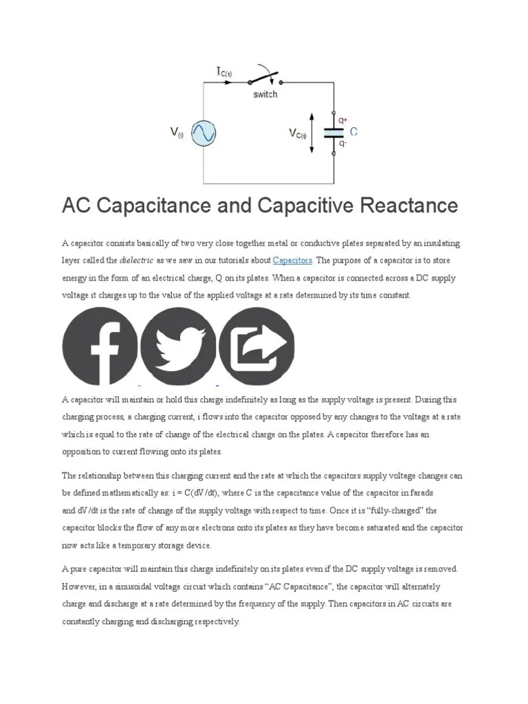 medium resolution of ac capacitance and capacitive reactance capacitor electrical impedance