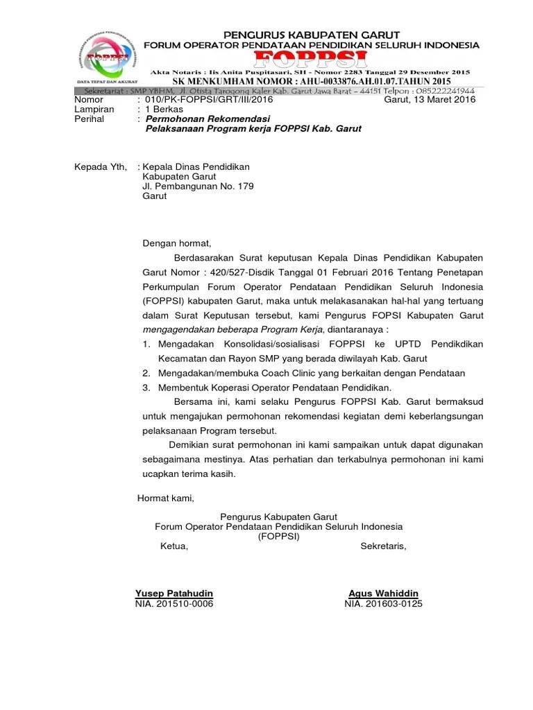 Surat Permohonan Rekomendasi Ke Dinas Pendidikan : surat, permohonan, rekomendasi, dinas, pendidikan, Permohonan, Rekomendasi, DInas