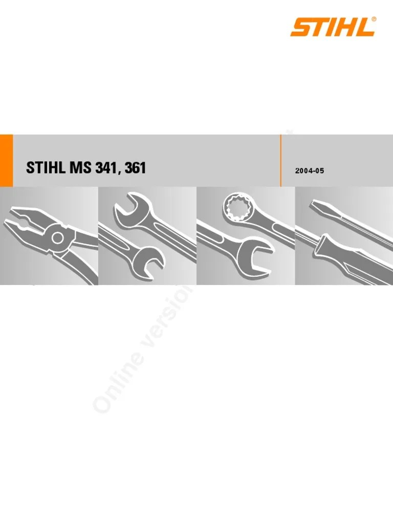 hight resolution of diagram of stihl tiller engine