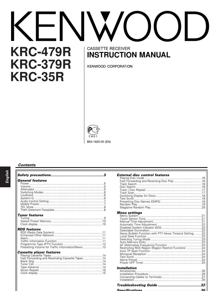 medium resolution of kenwood krc 479r en manual compact cassette sound production technology