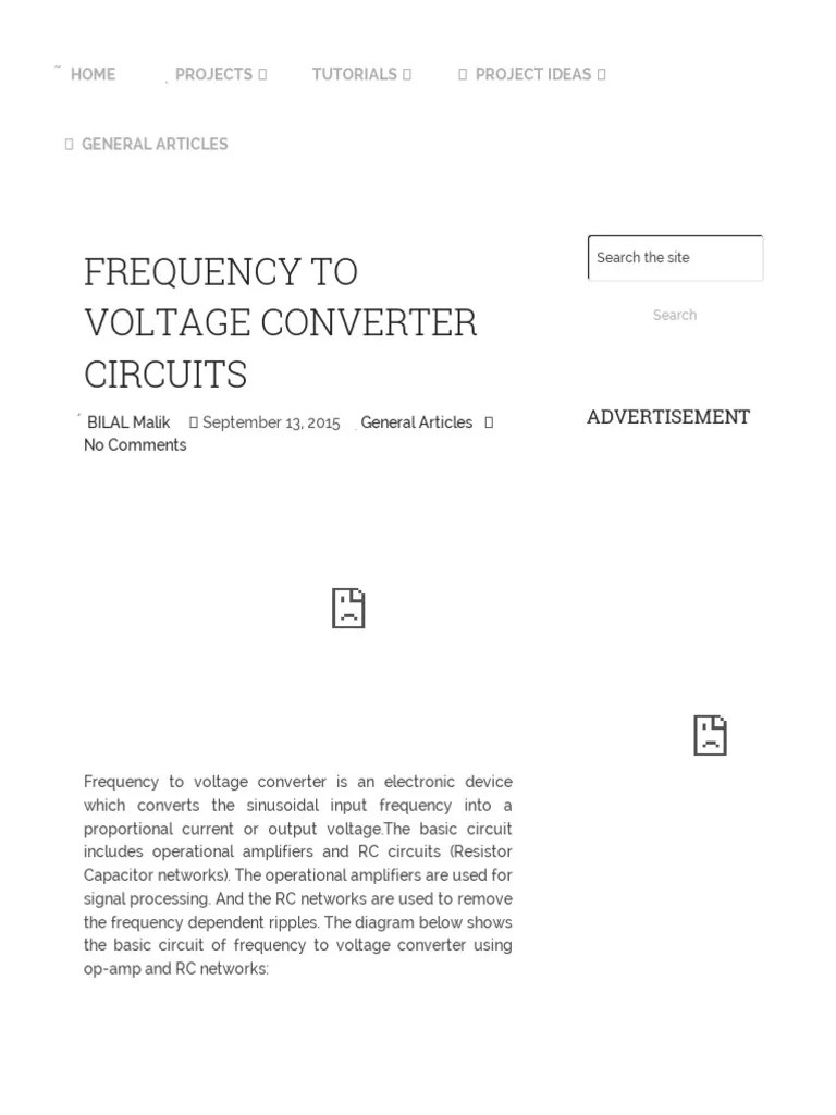 medium resolution of frequency to voltage converter circuit diagram operational amplifier amplifier