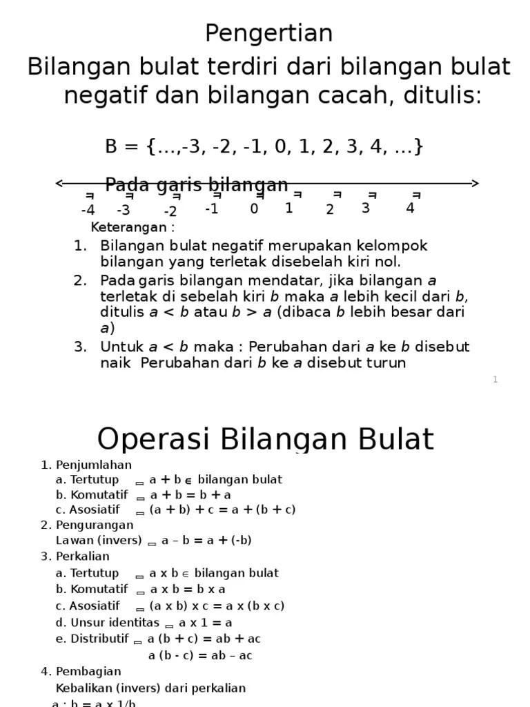 Pengertian Bilangan Bulat : pengertian, bilangan, bulat, Pengertian, Bilangan, Bulat, Terdiri, Negatif, Cacah,, Ditulis