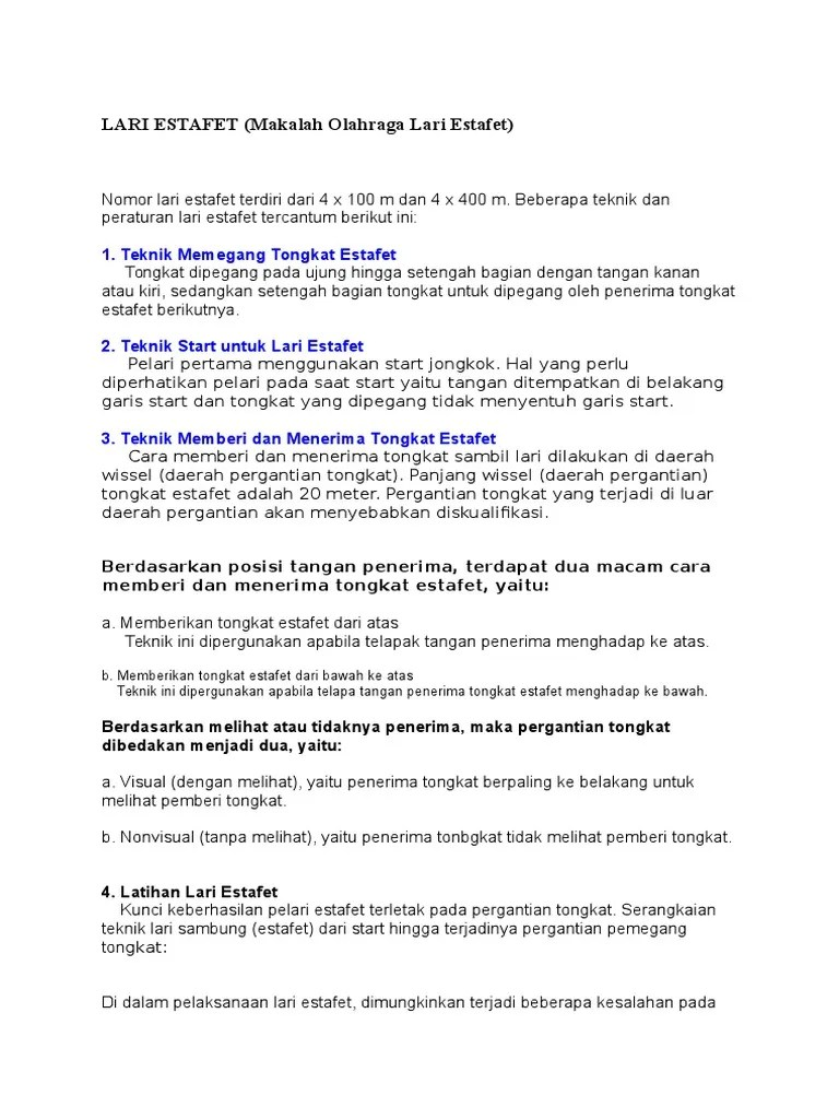 Cara Pemindahan Tongkat Estafet : pemindahan, tongkat, estafet, Estafet