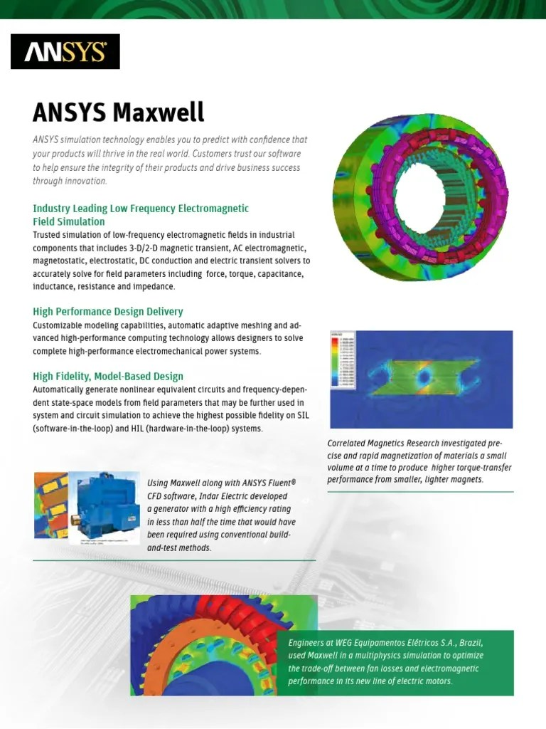ANSYS Maxwell - Brochure | Electricity | Electromagnetic Field
