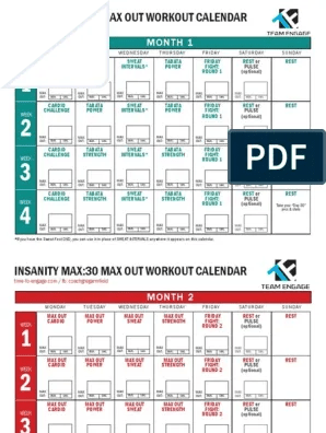 Insanity Max 30 Download : insanity, download, Workout, Calendar, Insanity