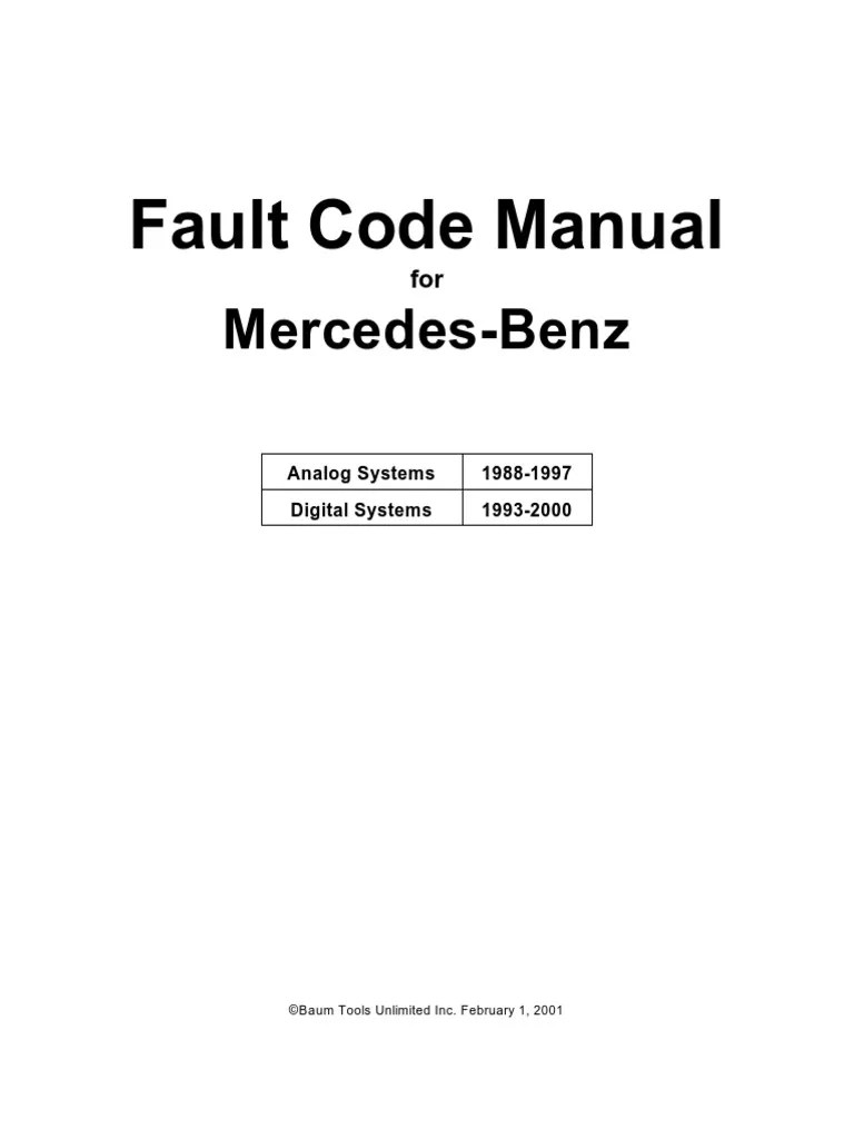 hight resolution of 1512119279 v 1 mercedes benz fault code manual throttle fuel injection at cita scribd 1997 mercedes c280 a c wiring