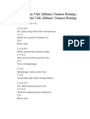 Chord Nuansa Bening : chord, nuansa, bening, Lirik, Aldiano, Nuansa, Bening
