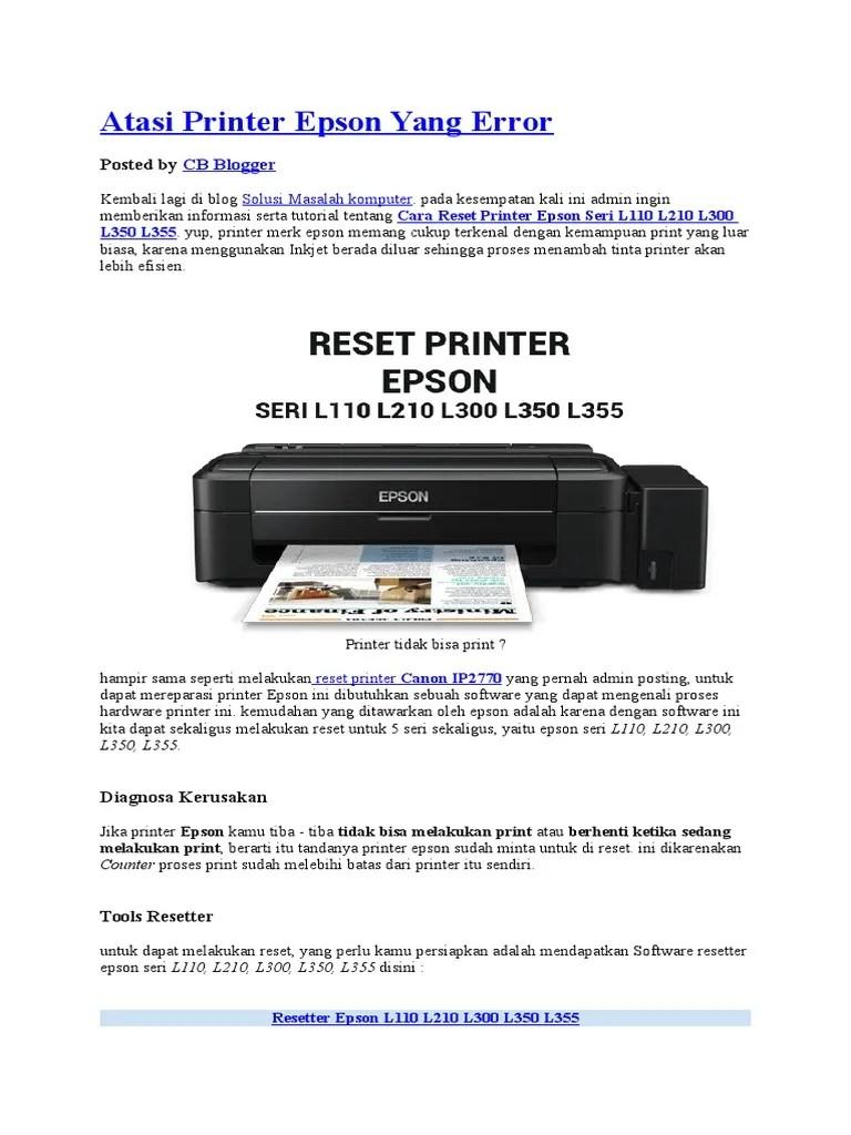 Printer Epson L120 Tidak Merespon : printer, epson, tidak, merespon, Panduan, Epson, Whatlasopa