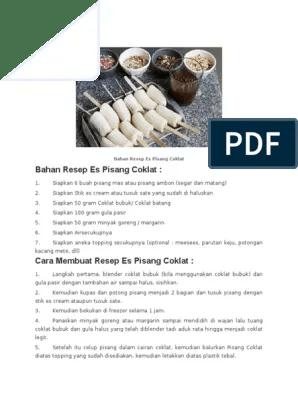 Cara Membuat Es Pisang Coklat Bubuk : membuat, pisang, coklat, bubuk, Bahan, Resep, Pisang, Coklat