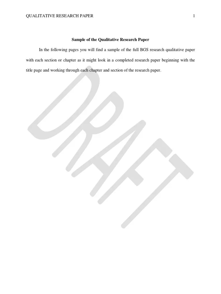 APA 6 BGS Qualitative Research Paper August 20142 Institutional