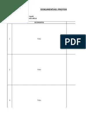 Contoh Form Dokumentasi Proyek Cute766