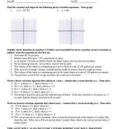 Direct And Inverse Variation Worksheet Answer Key - Nidecmege [ 1024 x 768 Pixel ]