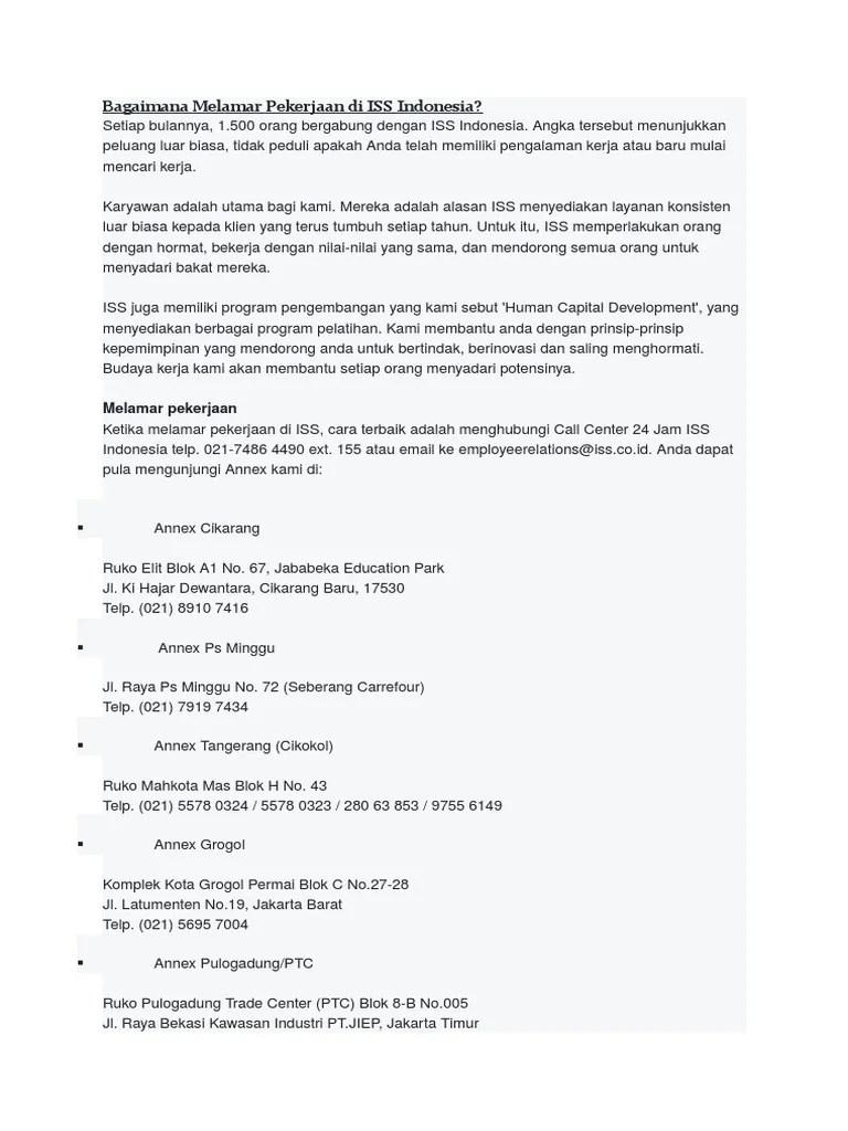 Cara Melamar Di Pt Iss : melamar, Bagaimana, Melamar, Pekerjaan, Indonesia
