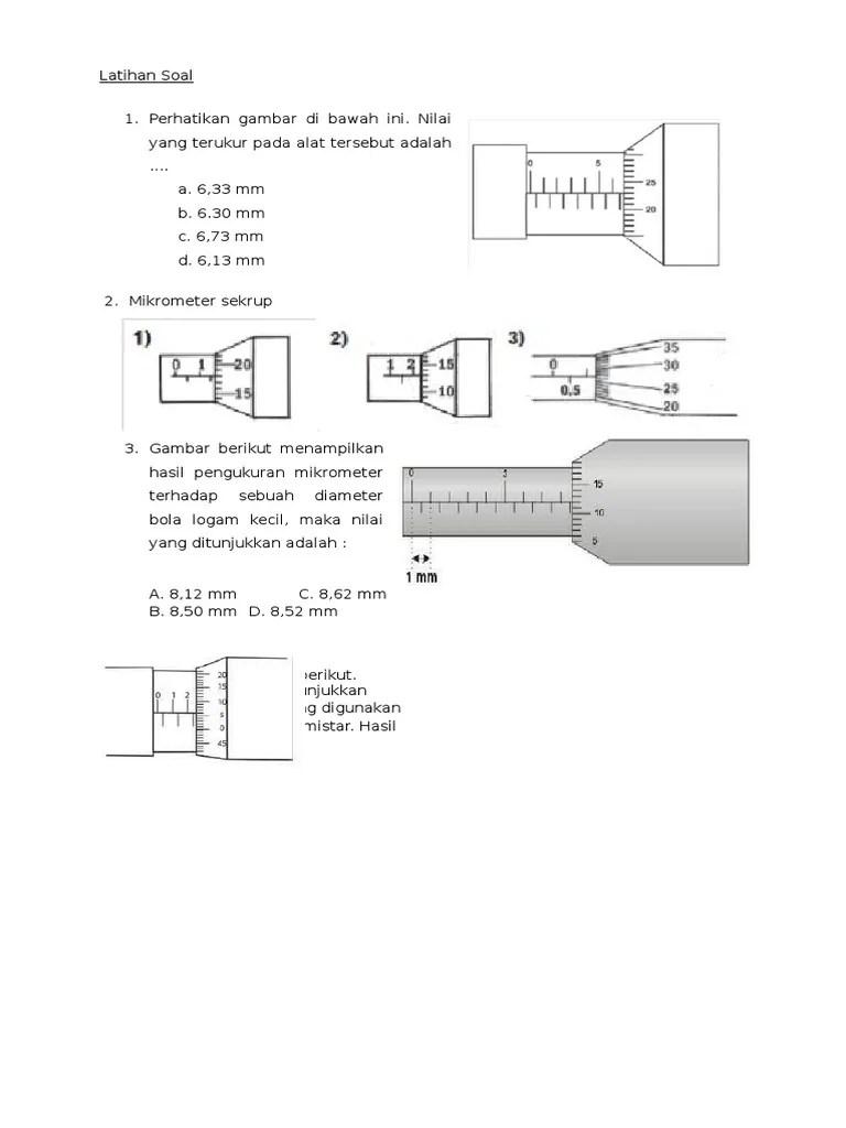 Hasil Ukuran Yang Ditunjukkan Oleh Mikrometer Sekrup Di Bawah Ini Adalah : hasil, ukuran, ditunjukkan, mikrometer, sekrup, bawah, adalah, Perhatikan, Gambar, Bawah