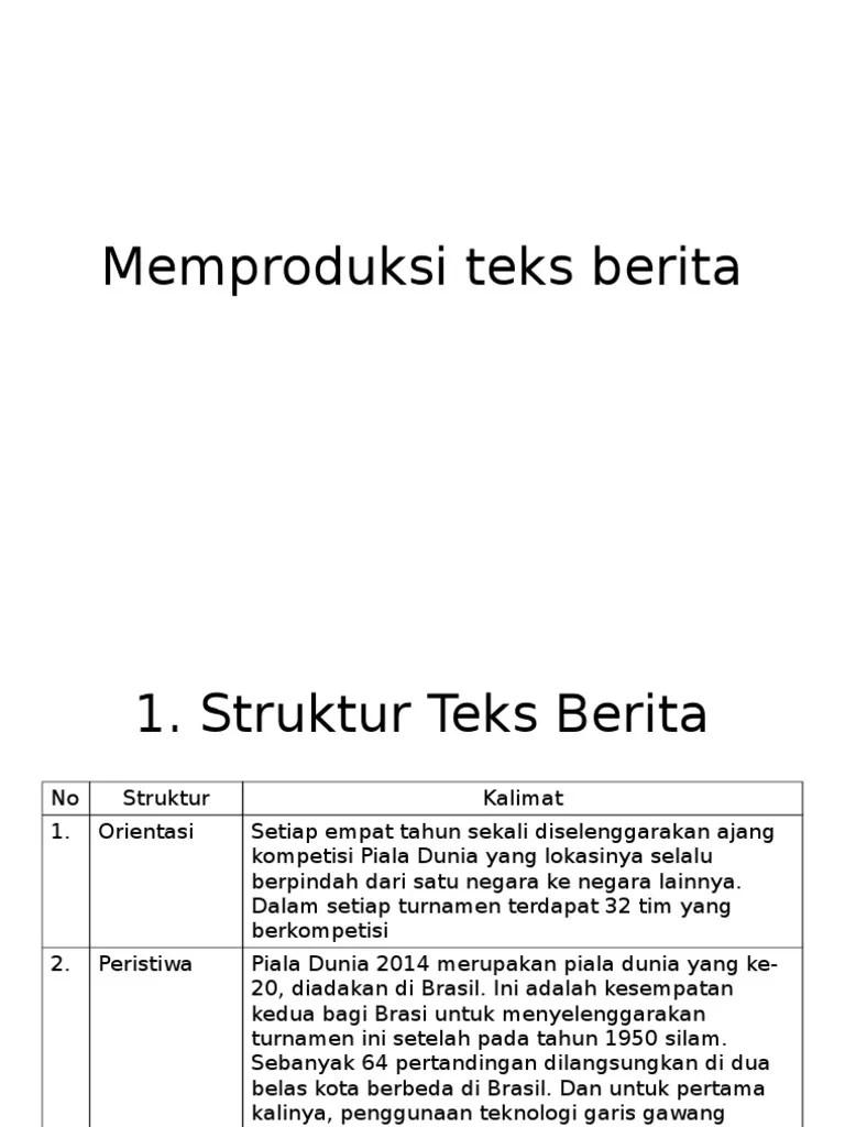 Struktur Teks Berita: Piramida Terbalik - KOMPAS.com