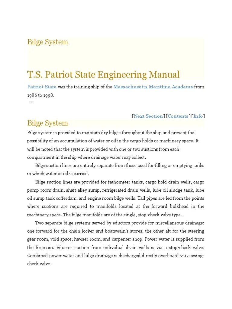 medium resolution of piping layout engineer interview engine schematic wiring librarybilge system ts patriot state engineering manual pump hydraulic