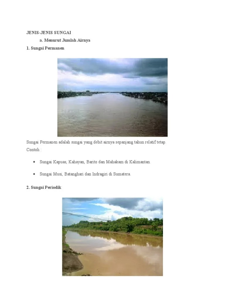 Jenis Jenis Sungai Berdasarkan Sumber Airnya : jenis, sungai, berdasarkan, sumber, airnya, Jenis-Jenis, Sungai.docx