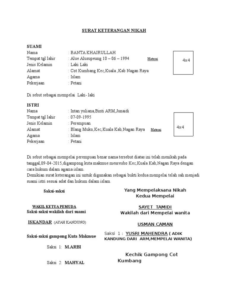 Surat Pernyataan Nikah : surat, pernyataan, nikah, SURAT, KETERANGAN, NIKAH.docx