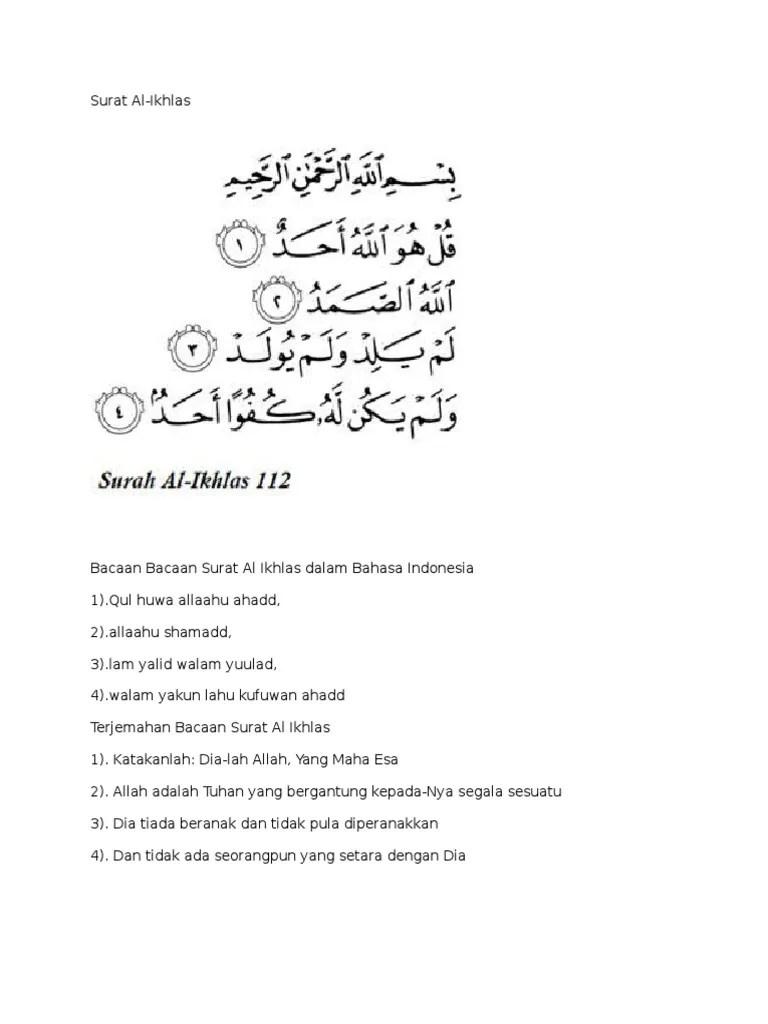 Surah Al Ikhlas Dan Artinya : surah, ikhlas, artinya, Surat, Al.iklas.docx