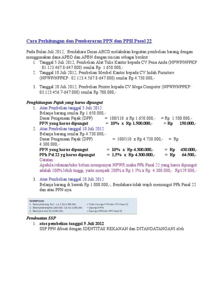 Cara Menghitung PPN dan PPH di Excel - YouTube