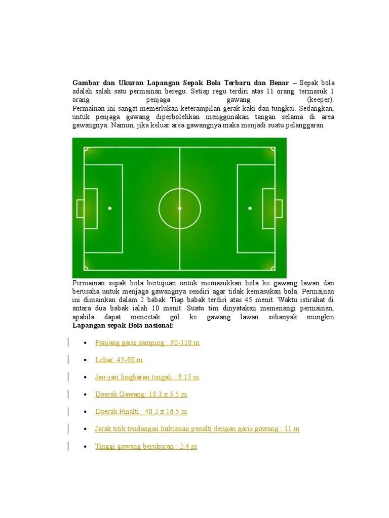 Ukuran Tinggi Dan Lebar Gawang Sepak Bola : ukuran, tinggi, lebar, gawang, sepak, Gambar, Ukuran, Lapangan, Sepak, Terbaru, Benar