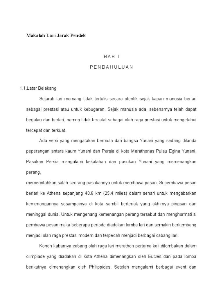 Makalah Lari Sprint : makalah, sprint, Makalah, Jarak, Pendek.docx