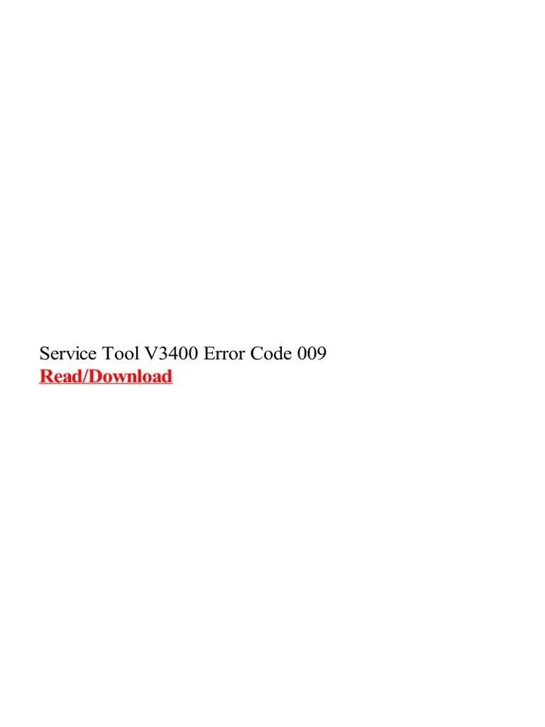 Service Tool Mp287 : service, mp287, Service, V3400, Error, Media, Technology, Office, Equipment